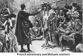 FRENCH MISSIONARY AND MOHAWK WARRIORS.jp